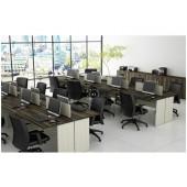 00 - Conjunto de móveis para escritório - Coleção Avva - Composição 1
