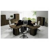00 - Conjunto de móveis para escritório Coleção Avva - Composição 2